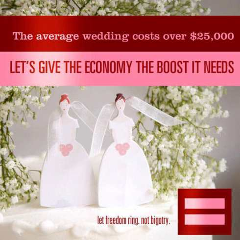 mariage gay économie