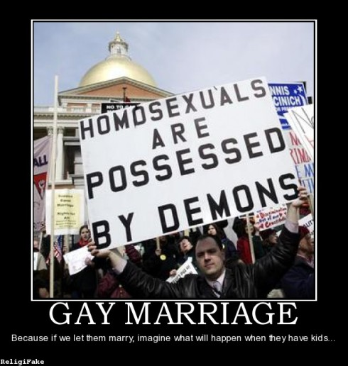 mariage gay Etats-Unis demons